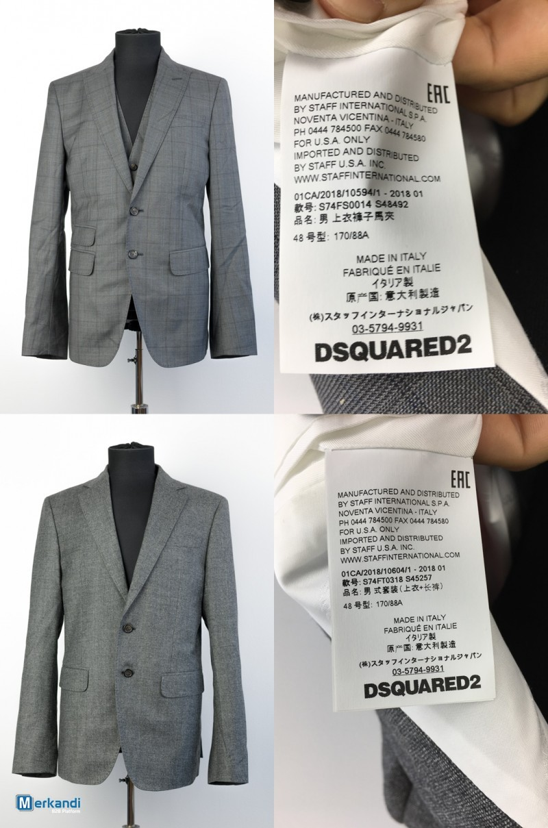 finest selection f865b 57edc DSQUARED2 Men's Suits - Collection 2018 - Special Offer ...
