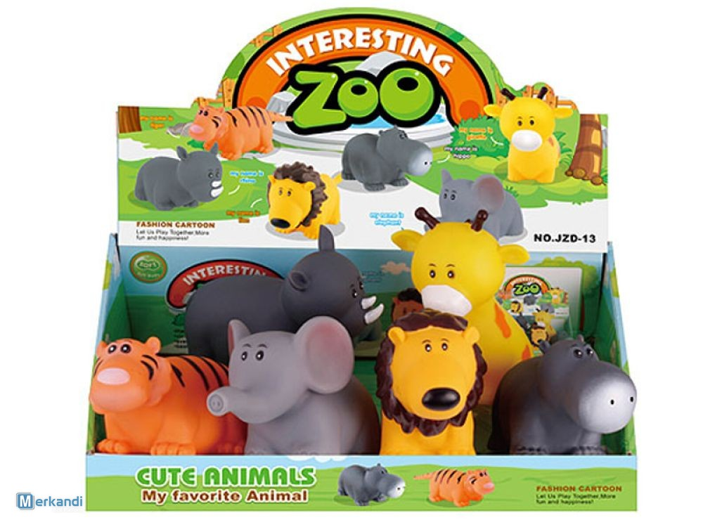 ZOO ANIMALS FOR RUBBER BATH 6 PCS 19.5 CM TOYS | Toys & games ...