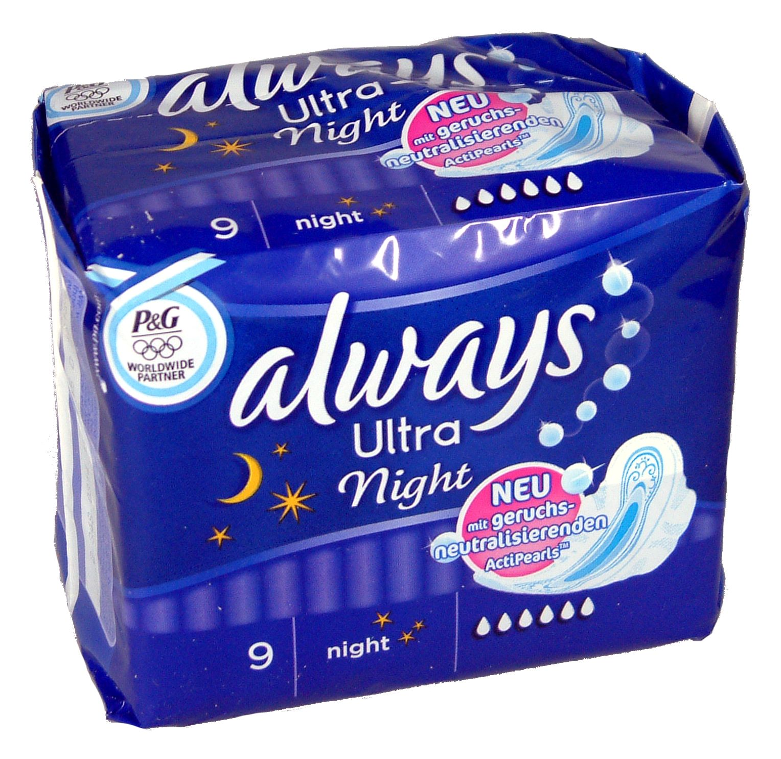I recommend the offer: Always Ultra Night 9 sanitary pads wholesale  [288455] | Toiletries | merkandi com