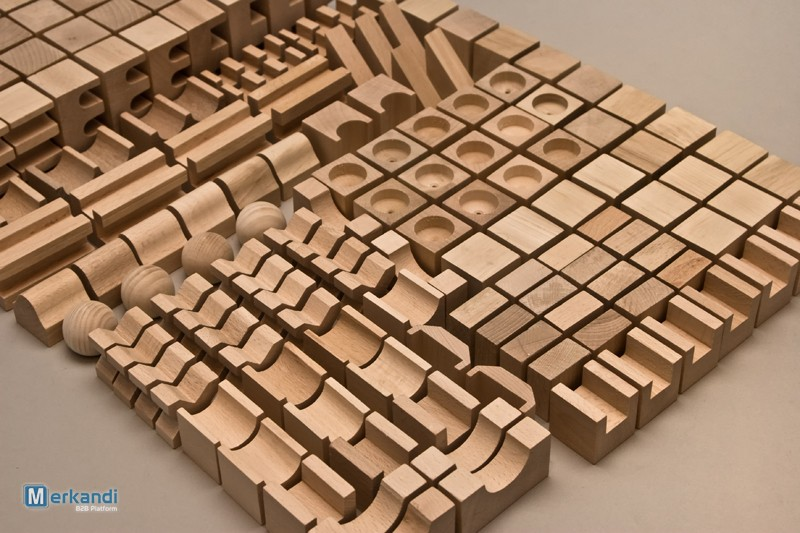 Natural wooden bricks XL set of 220 pieces | Toys & games | Official