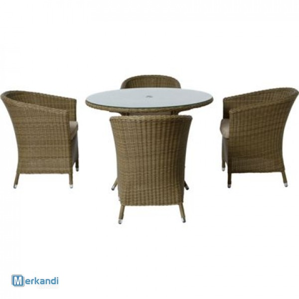 Garden Furniture 4 Seater worcester 4 seater rattan effect garden furniture set - brand new