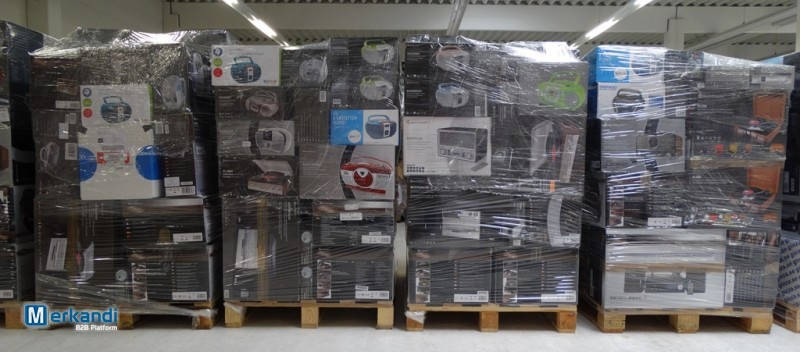 Mix pallets of appliances from Amazon returns