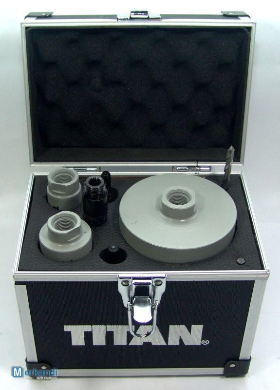 Titan Diamond Core Drill 8 Piece Set Suitable For Wet and Dry Cutting