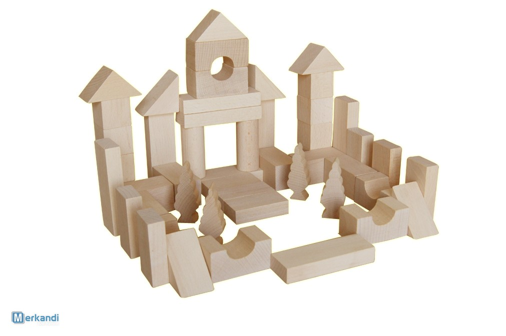 Natural wooden bricks Standard | Toys & games | Official