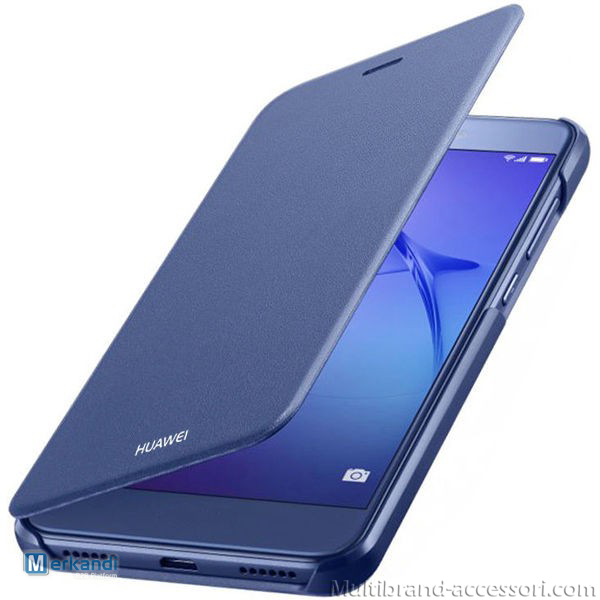 FLIP COVER FOR HUAWEI P8 LITE (2017) - BLUE   Mobile phones ...