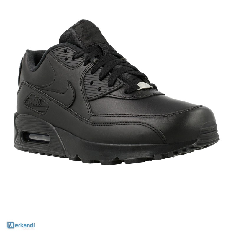 in stock 6766a d3475 NIKE AIR MAX 90 LEATHER SHOES 302519001