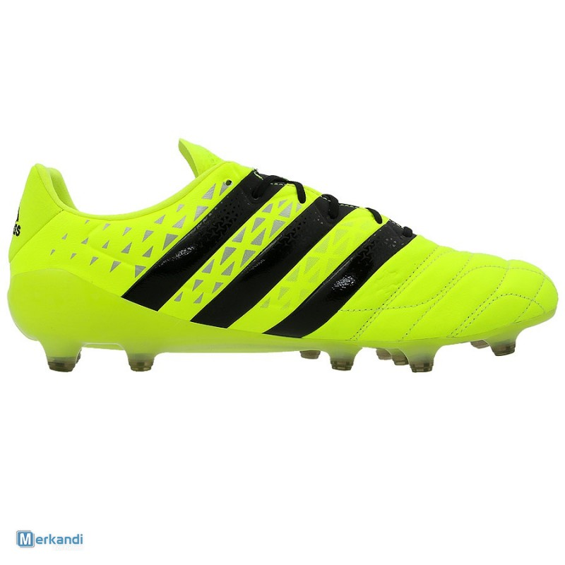 feee0599 Adidas Ace 16.1 Leather FG Solar Yellow/Black Men S79684 [149533 ...