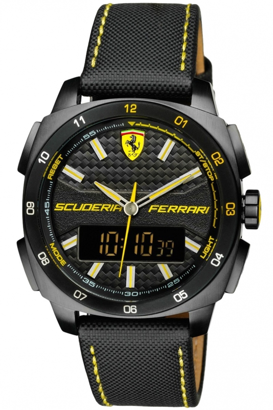 black men chronograph watches scuderia ebay watch mens race strap s itm ferrari red heritage